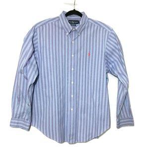 Ralph Lauren Button Up Classic Fit Blue Orange XL